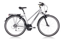 Vermont James Cook velo trekking Femme Lady, silver gris